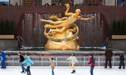Patinação no gelo no Rockefeller Center