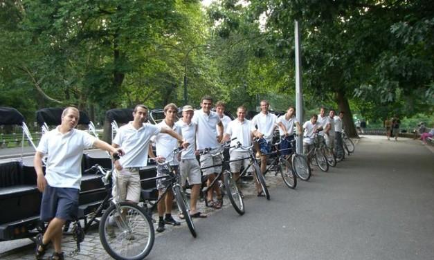 Passeio de pedicab no Central Park