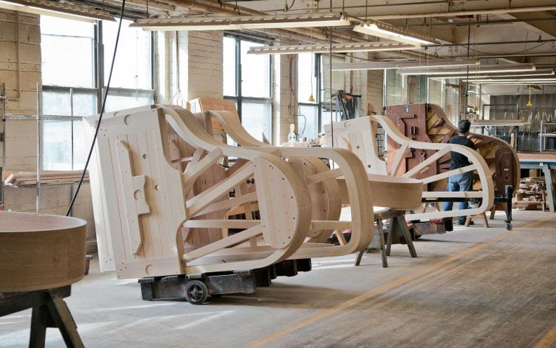 Tour à fábrica de pianos Steinway & Sons