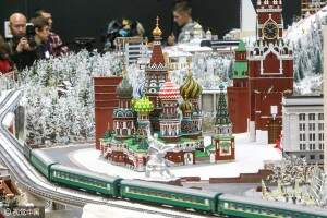 ST PETERSBURG, RUSSIA - OCTOBER 10, 2016: A mockup of Moscow's Kremlin and St Basil's Cathedral, a part of a miniature version of the Russian Federation displayed at the Grand Maket Rossiya museum. The mockup makes the largest part of the Gulliver's Gate project creating a 1:87 scale miniature version of the world. Gulliver's Gate is to open in April 2017 in Times Square, New York City. Sergei Konkov/TASS